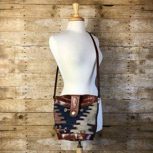Vintage Southwestern Boho Kilim Tapestry Purse